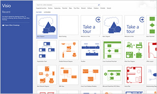 Get Office 365 benefits with the familiar Visio application and interface
